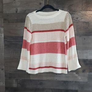 Loft size M beige pink cream sweater